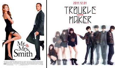 Mr. & Mrs. Smith compared with Trouble Maker Hyuna Hyunseung JS
