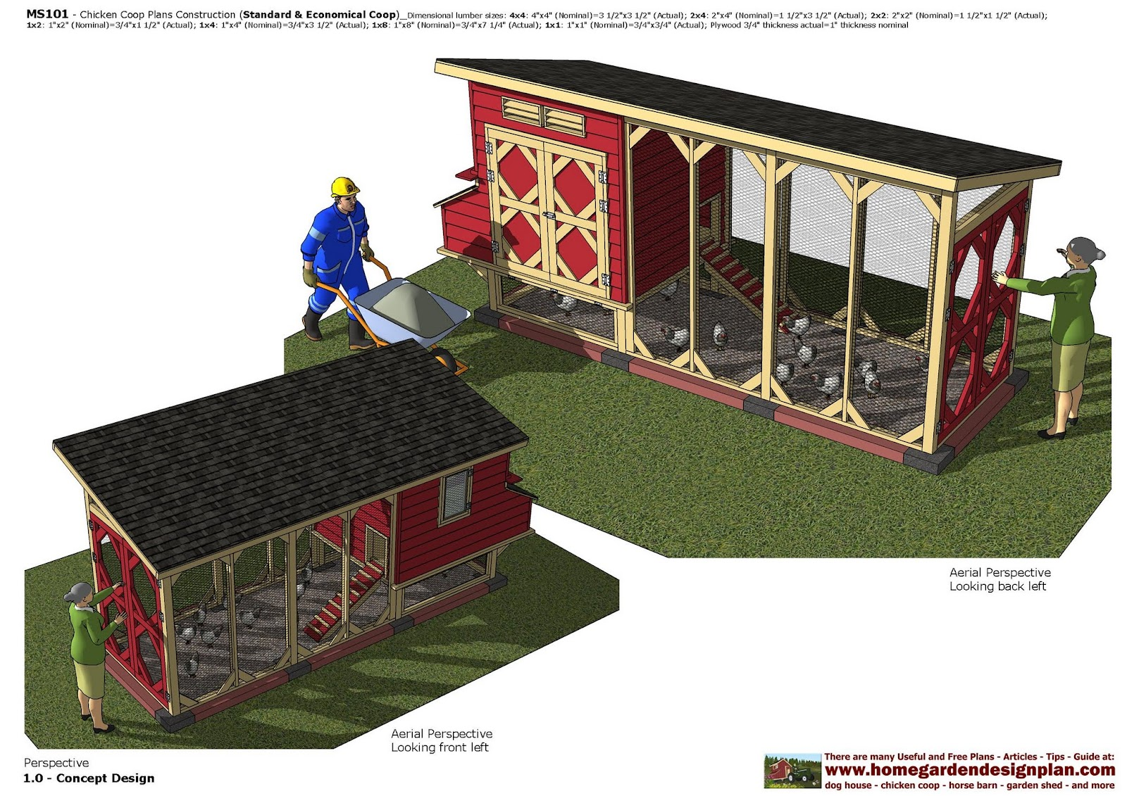 MS101 - Chicken Coop Plans Construction - Chicken Coop Design - How To