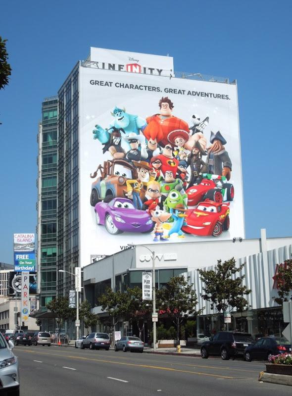 Giant Disney Infinity game billboard