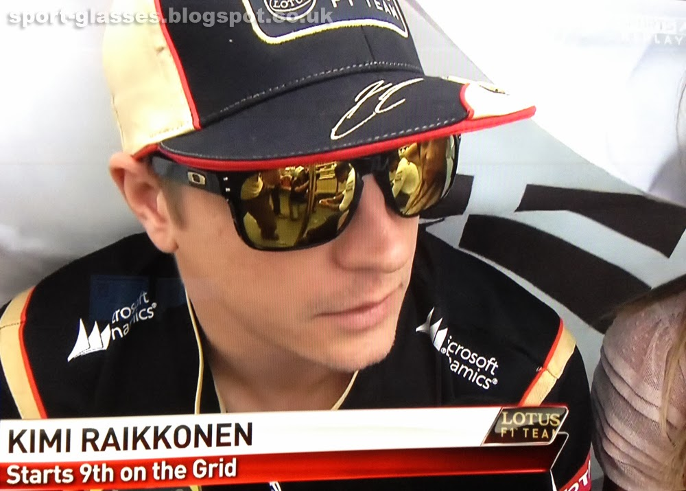 Kimi Raikkonen Wearing Oakley Holbrook Sunglasses at Korean GP 2013