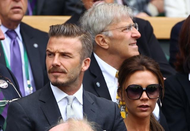 David Beckham and Wife At Wimbledon 2012 Final Photo