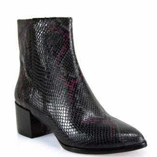 Welcome 2014 with slithering snakeskin boots