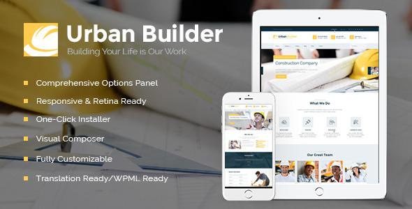 download Urban Builder | Construction WordPress Theme
