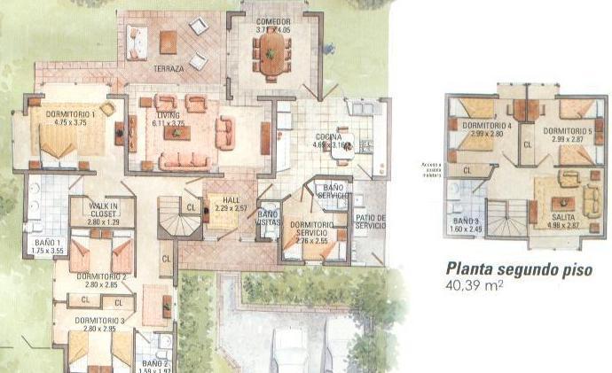 Planos de casas modelos y dise os de casas planos de - Plano piso 40 metros cuadrados ...