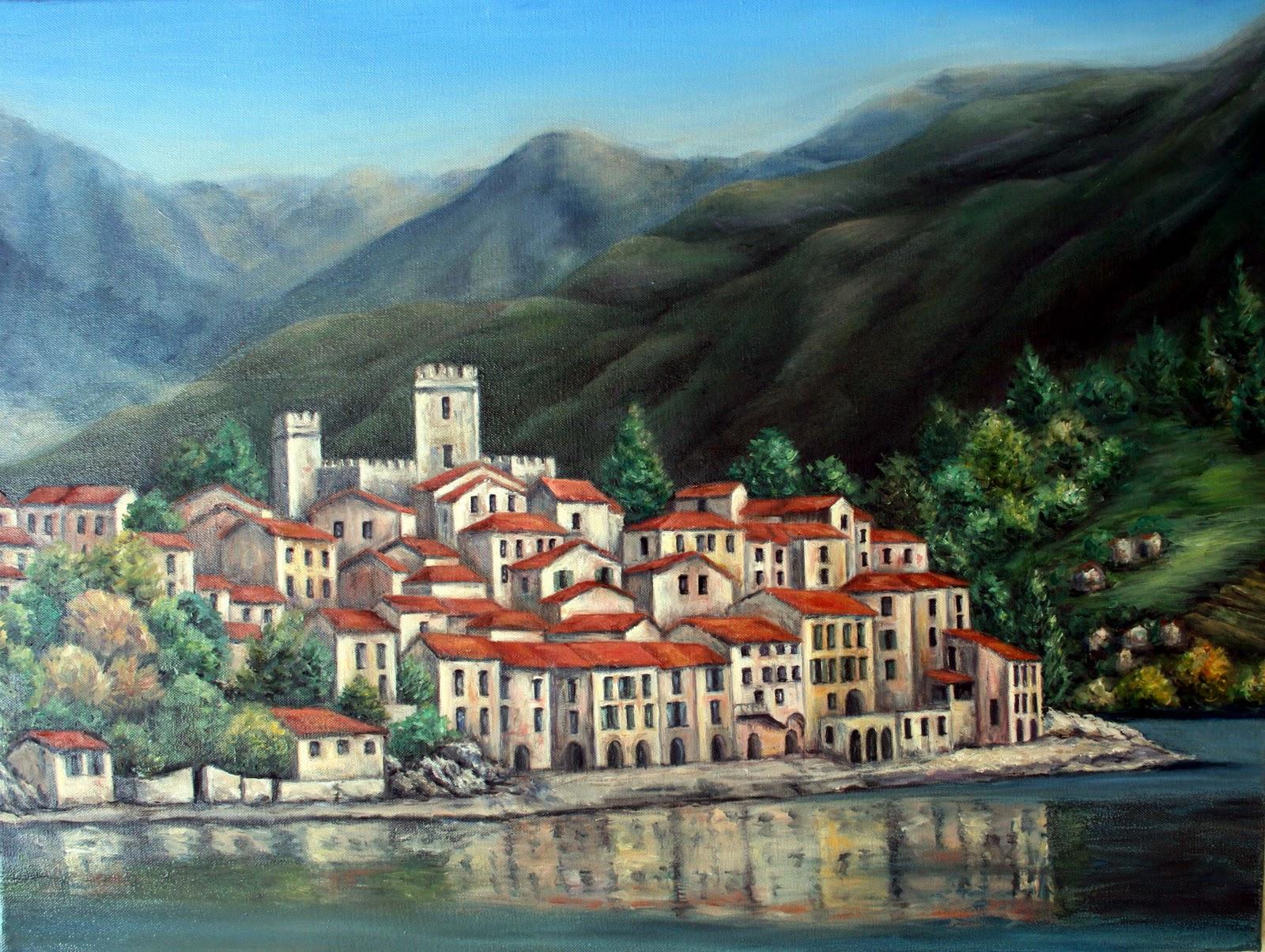 Paesaggi d\'Italia, dipinti da Paola Vincenti: Dipinto di Varenna ...