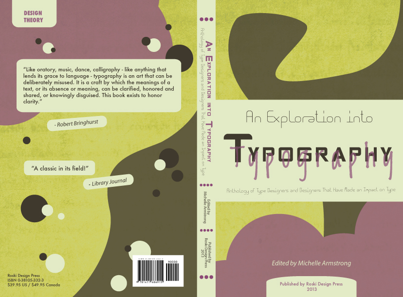 Typographic Book Cover Art ~ Michelle s art typography book cover design