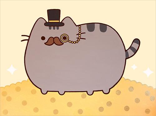 Fancy Pusheen Cat High Resolution Widescreen