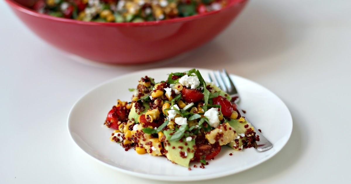 Milk and Honey: Quinoa, Grilled Corn, Tomato and Feta Salad