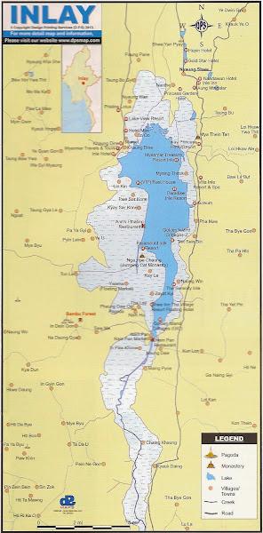 Mapa turistico del Lago Inle