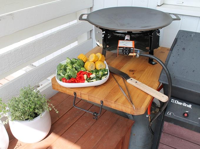 grillikasvikset, valurautapannu