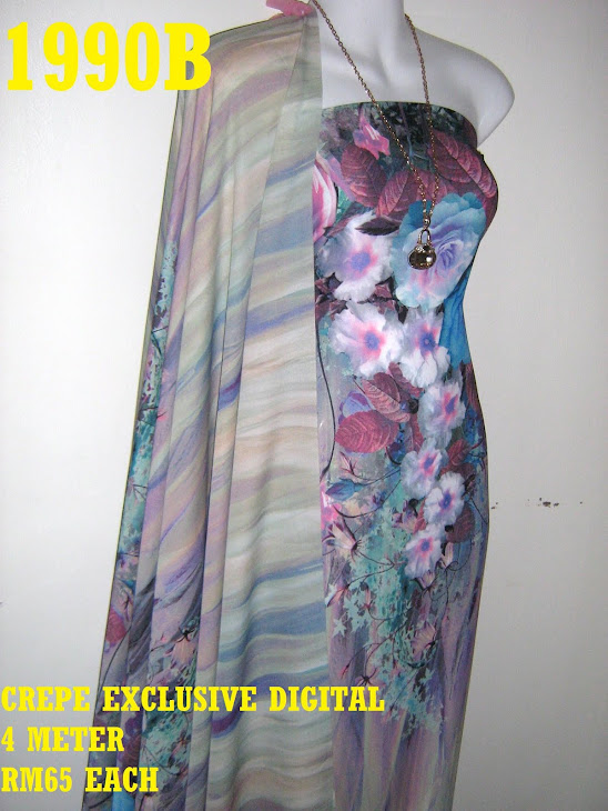 CP 1990B: CREPE EXCLUSIVE DIGITAL PRINTED, 4 METER