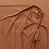Telekung lycra coklat bahagian muka
