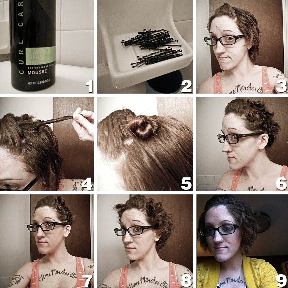 How To Style Short Hair Without Heat The Faux Housewife Noheat Curls For Short Hair.
