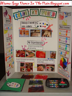 Preschool Science Fair, Mixing Primary Colors