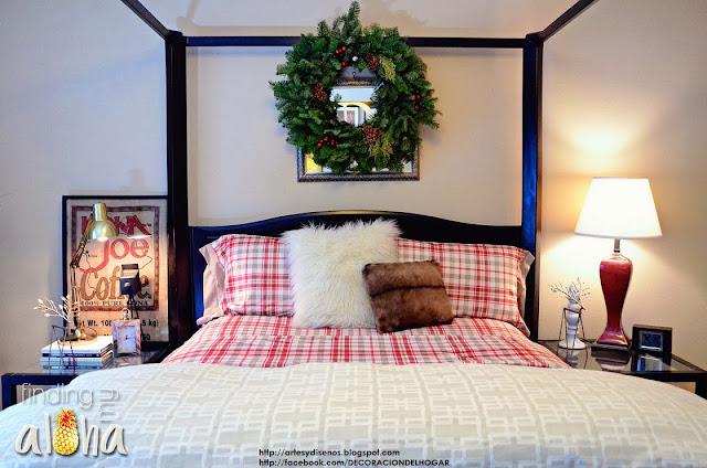 Dormitorios para Navidad (Bedrooms Christmas) by artesydisenos.blogspot.com