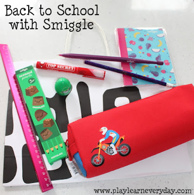 In today's video for kids Amber takes a look inside a huge Smiggle backpack packed with the cute stationery supplies.