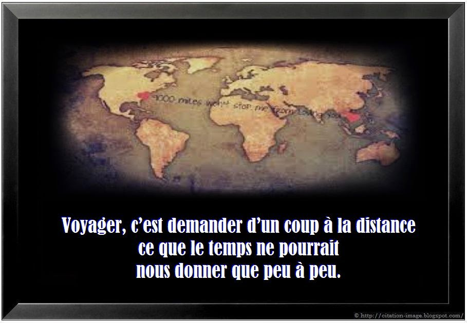 Une citation sur la distance en image