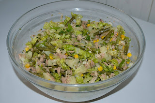 Salade verte au thon