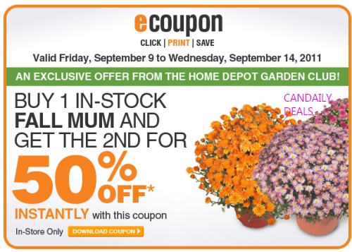 Canadian Daily Deals Home Depot Buy 1 Get 1 50 Off Fall