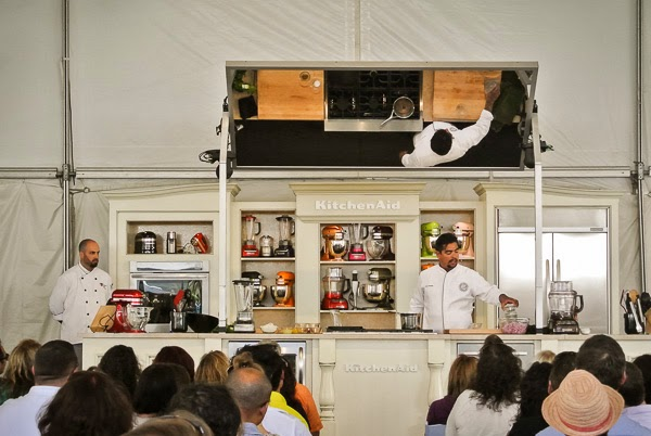 Chef Aaron Sanchez at Music City Eats Food Festival in Nashville Tennessee