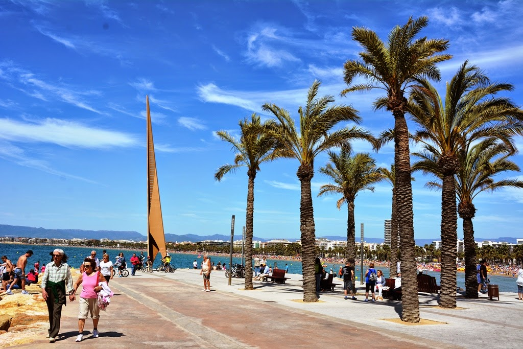 Salou Beach palm trees