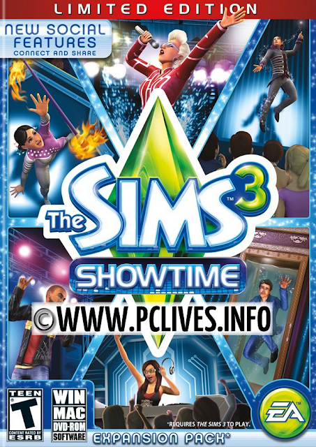 download full and free pc game The Sims 3: Showtime 2012