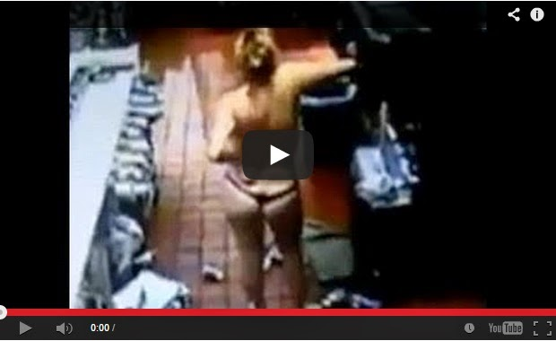 Video: Naked woman destroys McDonald's Restaurant