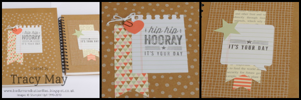 stampin up gift ideas hip hip hooray kit altered notebooks Tracy May