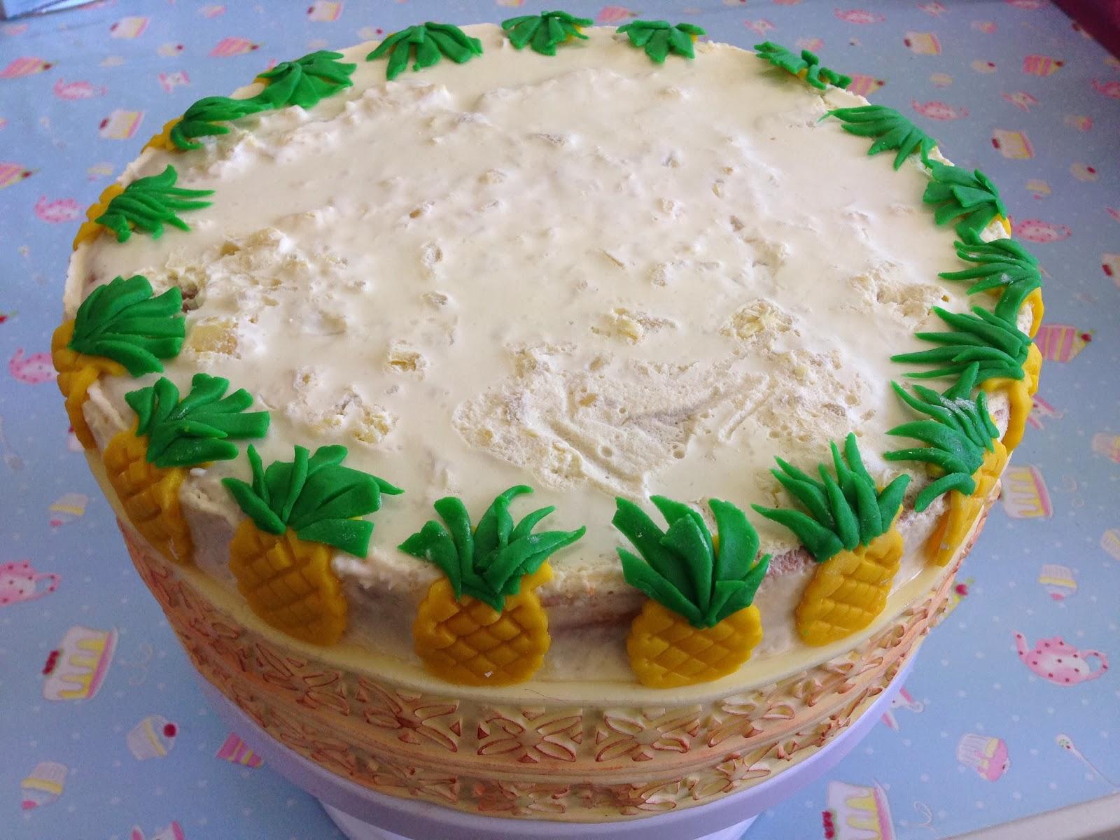 Kiwi Cakes Pina Colada Mousse cake for Grandma Kiwicakes birthday