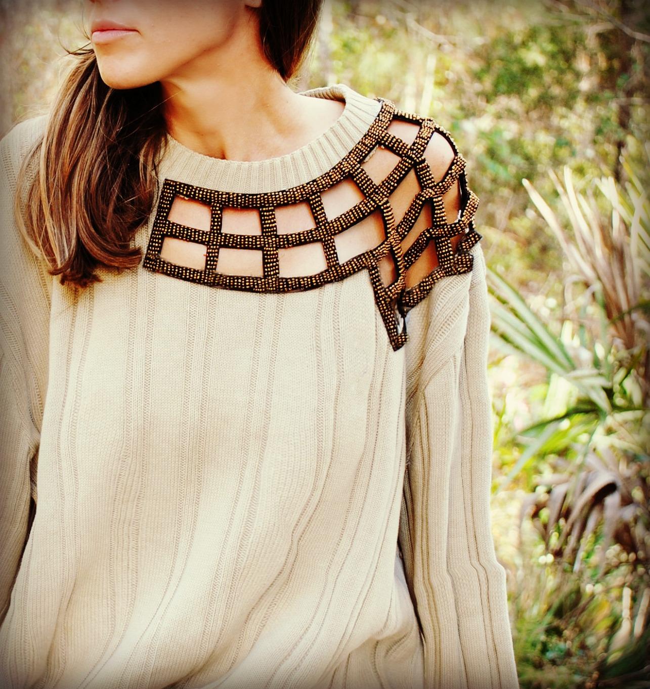 Как своими руками украсить свитер