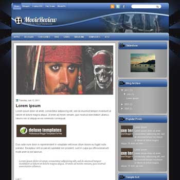 MovieReview blogger template. template blogspot magazine style. download movie blogger template