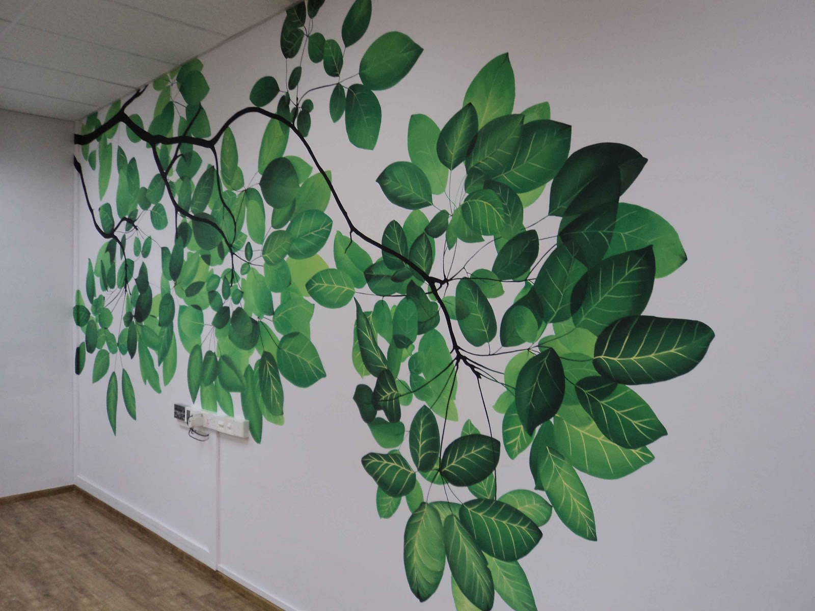 Livingwithart Singapore Creates Mural Art That Transforms The Environment.  Each Leaf Is Carefully Painted With Attention Paid To Details. Wall Art  Mural ... Part 81