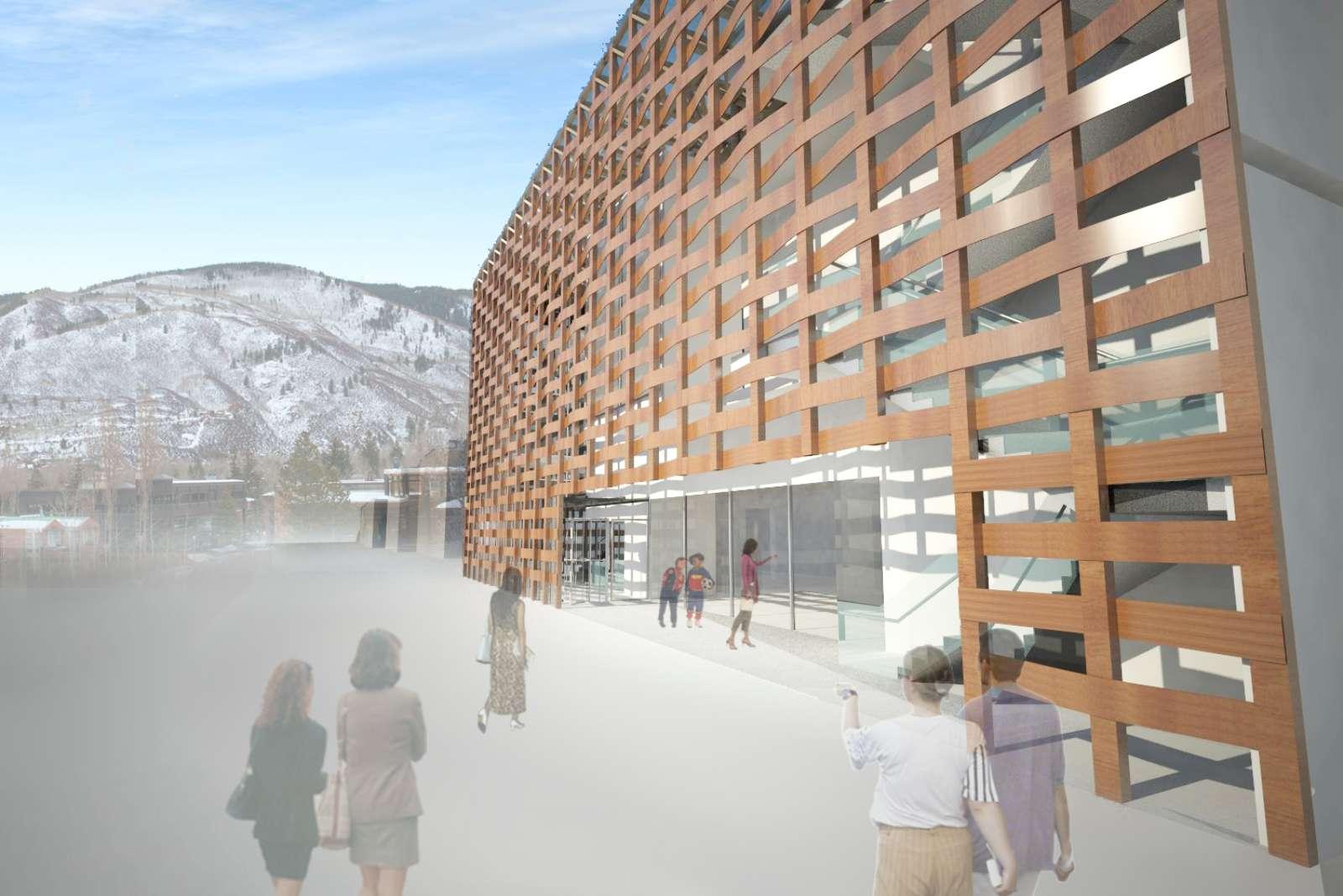 03-Aspen-Art-Museum por Shigeru Ban---junto abierto-verano