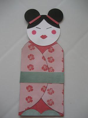 Marcapáginas con forma de Geisha. Geisha bookmark. Marque-page Geisha