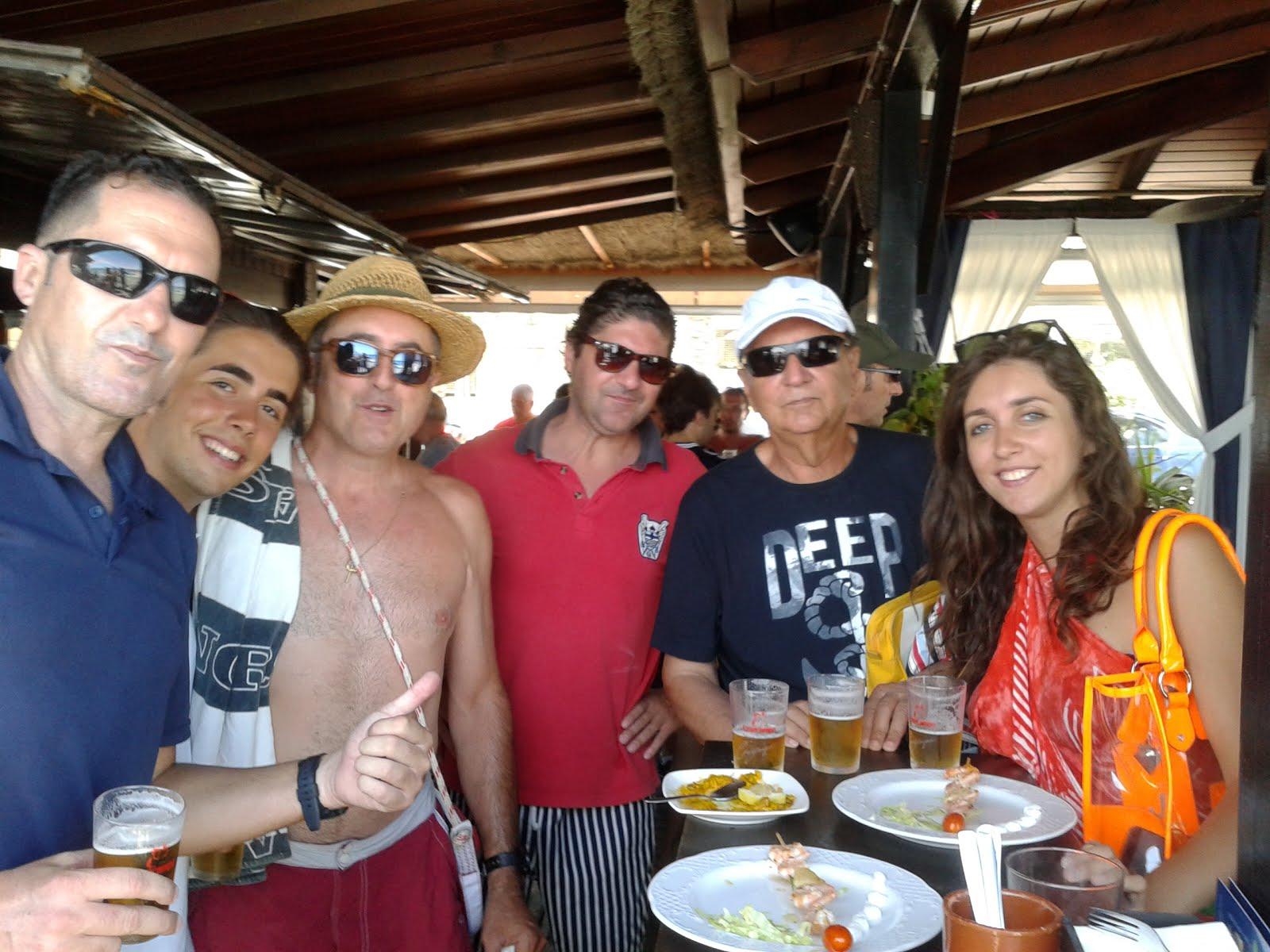 Mi padre, primo Jose Miguel ( el de los jamones), hermano e hijos mi primo, María y J. Miguel .2015
