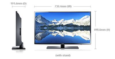 """spesifikasi Samsung LED TV Seri 6 32"""" UA32EH6030M"""