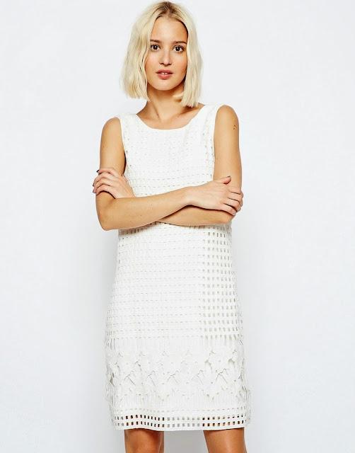 white detail dress, selected white midi dress,