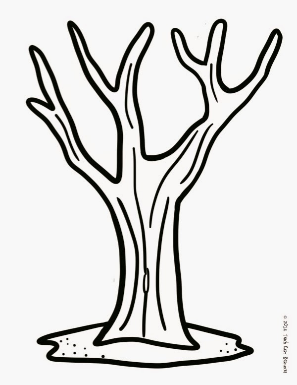 Dashing image with printable tree trunk template