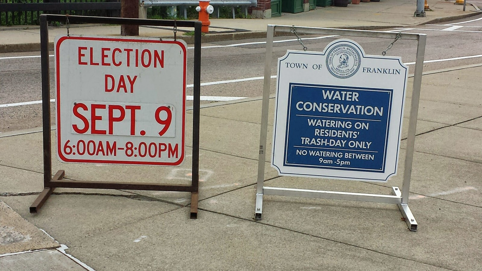 yes, the election has come and gone but the water conservation measures remain