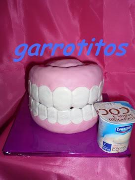 tarta de dentadura postiza para la mejor dentista