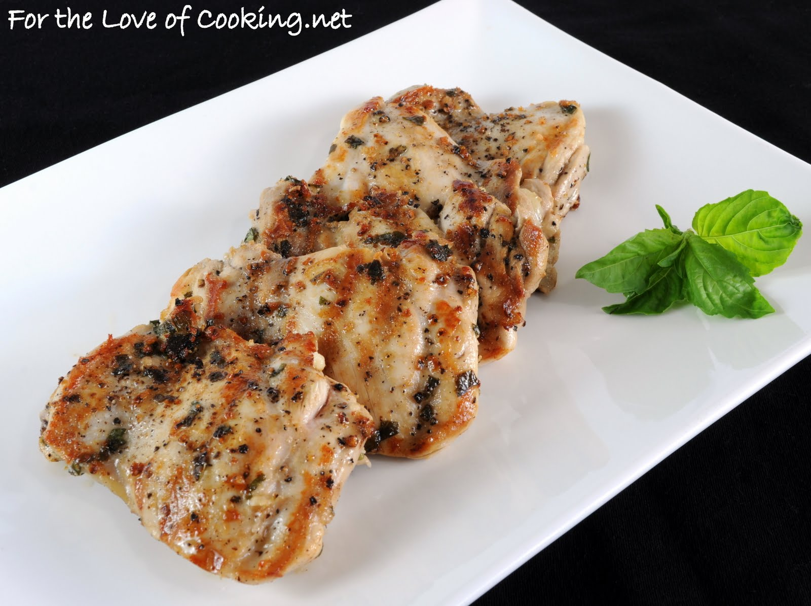 Basil marinated chicken thighs for the love of cooking basil marinated chicken thighs forumfinder Gallery