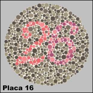 Teste de Ishihara - Placa número 16