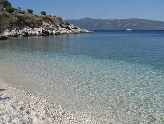 Kefalonia - Sami Beach - Mountain view