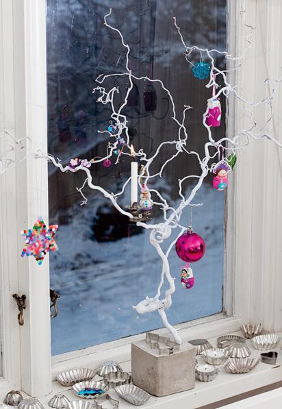 Lille lykke kerst decoraties voor de vensterbank