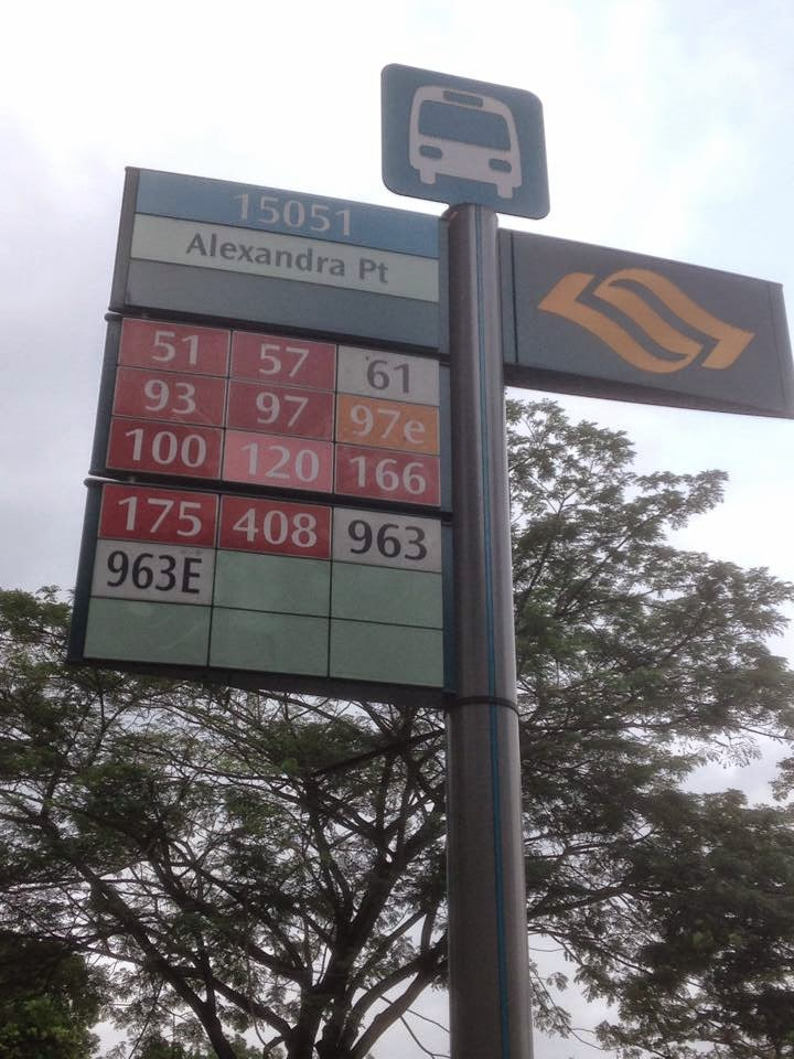 Bus Stop in Singapore