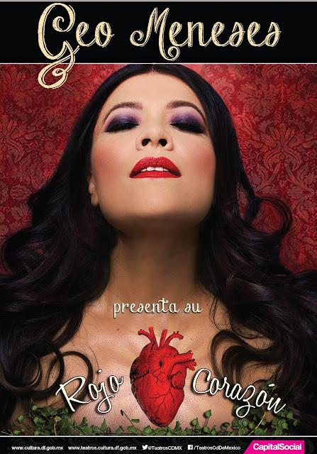 Geo Meneses presentará su Rojo corazón en el Teatro de la Ciudad Esperanza Iris