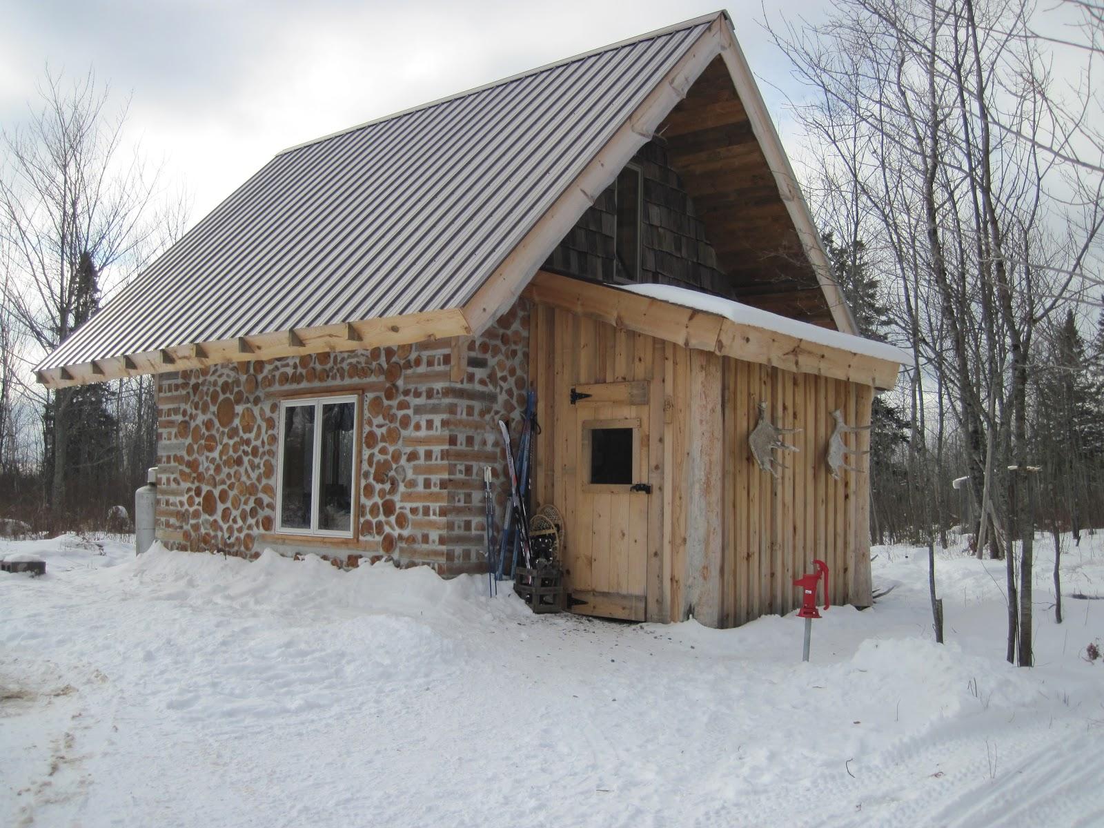 The cordwood on pinewood for Cordwood homes