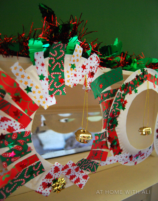 This craft suited both girls they made their wreaths to suit their age and level. Boo (2.5) glued a little bit of decoration onto a lot of paper plate ... & At home with Ali: Paper Plate Christmas Wreaths