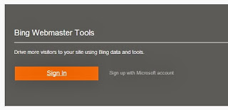 Bing-webmaster-sign-in