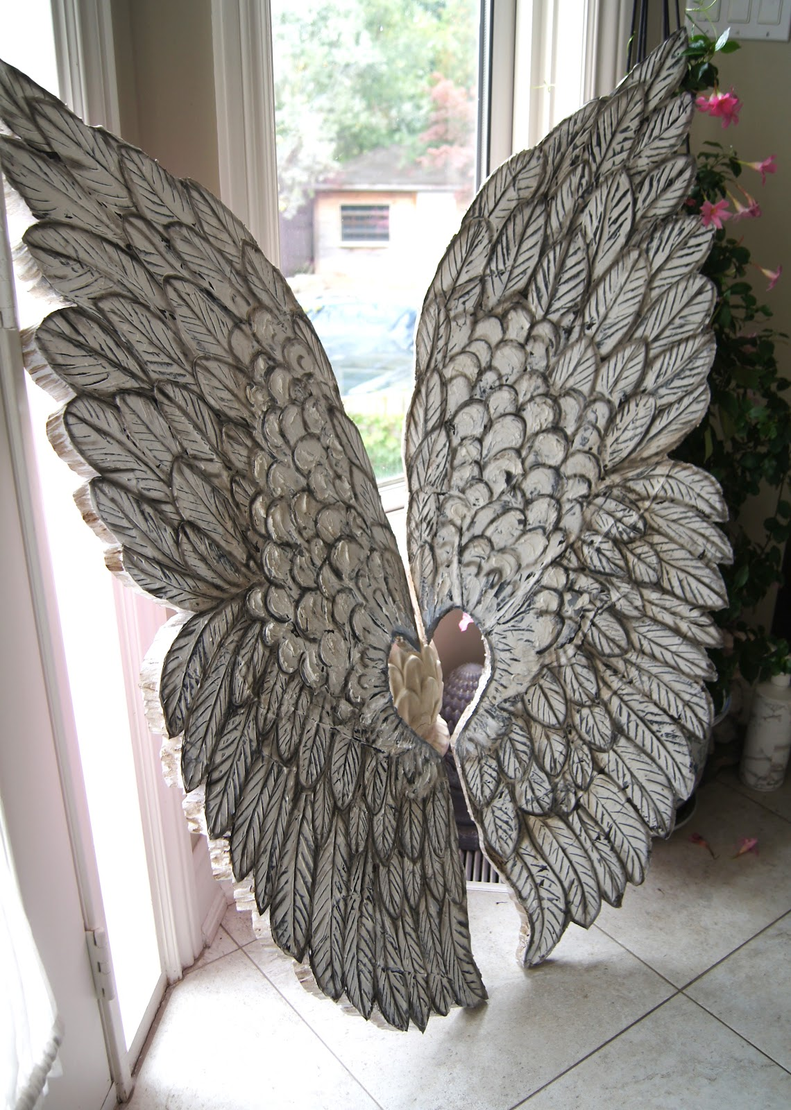 Large Angel White Feather Wings